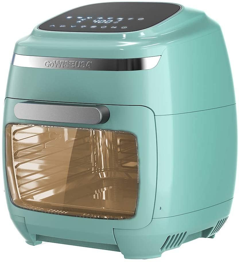 GoWISE USA 11.6-Quart Air Fryer Toaster Oven with Rotisserie & Dehydrator + 50 Recipes, 2 Colors