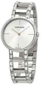 Calvin Klein Cheers Quartz Silver Dial Ladies Watch K8NY3TK6