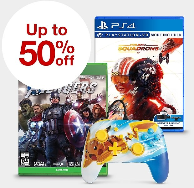Up to 50% Off Video Games + Extra 10% Off