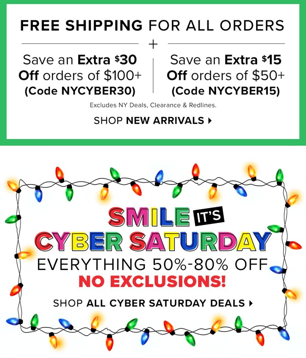 50-80% Off Cyber Monday Sale + Extra $30 Off With F/S
