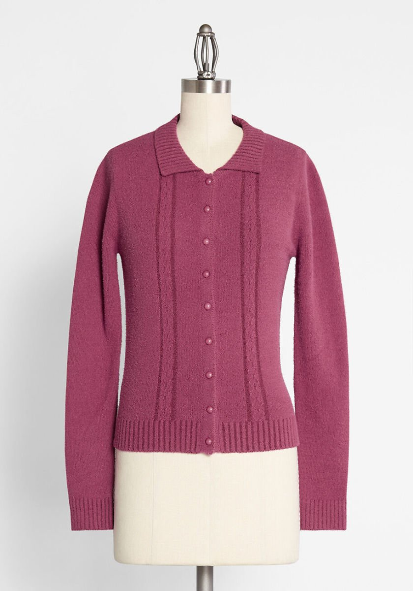 ModCloth X Collectif Get With Knit Seamed Cardigan