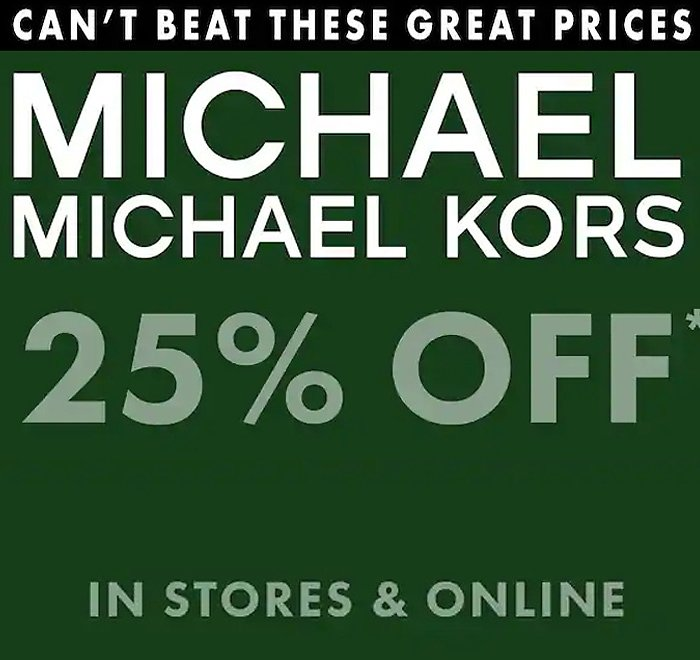 25% Off For Michael Kors Women's Shoes & Sandals