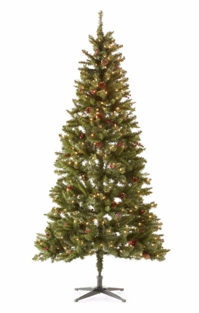 North Pole Trading Co. 7 1/2 Foot Pre-Decorated Christmas Tree
