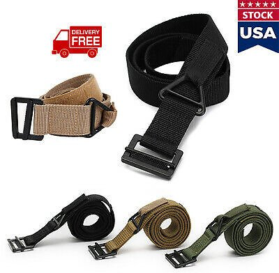 Outdoor Adjustable Nylon Waistband Combat Rescue Rigger Military Tactical Belt