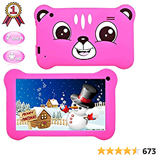 Tablet for Kids,7 Inch Kids Tablet Android 9.0 Edition Tablet with WiFi and Bluetooth,GMS Certified, 2GB+16GB Tablet for Kids,Children Tablet with Parental Control Pink
