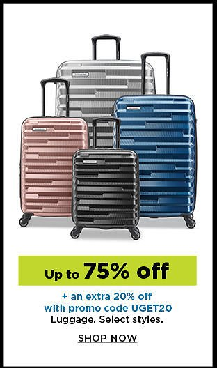 UP To 75% + Extra 20% Off Select Luggage Styles | Kohl's