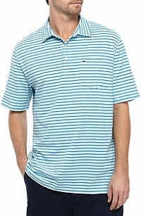 Crown & Ivy™ Men's Short Sleeve Jersey Knit Polo Shirt
