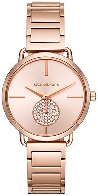 Michael Kors Women's Portia Stainless Steel Bracelet Watch 36mm & Reviews - Watches - Jewelry & Watches