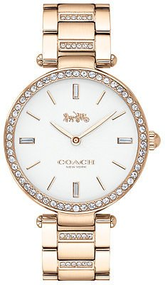 COACH Women's Park Carnation Gold-Tone Stainless Steel Bracelet Watch 34mm & Reviews - Watches - Jewelry & Watches