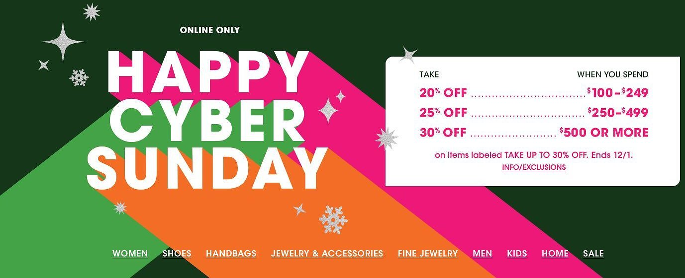 Up to 80% Off 'Happy' Cyber Sale + Extra 20-30% Off