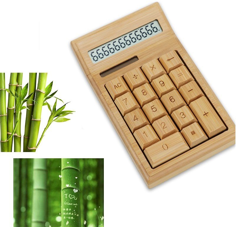US $12.53 30% OFF|Bamboo Office Calculator 12 Digit LCD Display School Special Gift Christmas Calculate Commercial Tool Battery Solar Powered|Calculators| - AliExpress