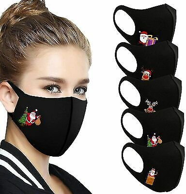 5 Pack Christmas Face Mask Reusable Washable Breathable Bye to 2020 Lockdown !