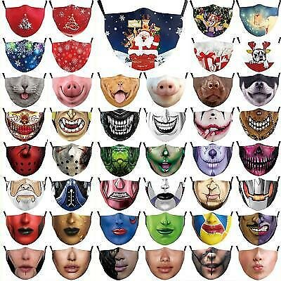 Christmas Face Masks 2020.Washable and Reusable Unisex Adjustable Face Mask Mens