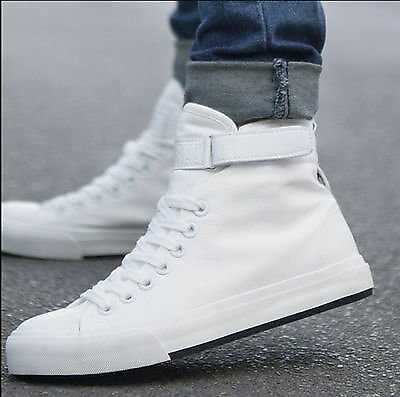 Fashion Men Spring High Top Canvas Shoes Running Sport Shoes Men Sneakers