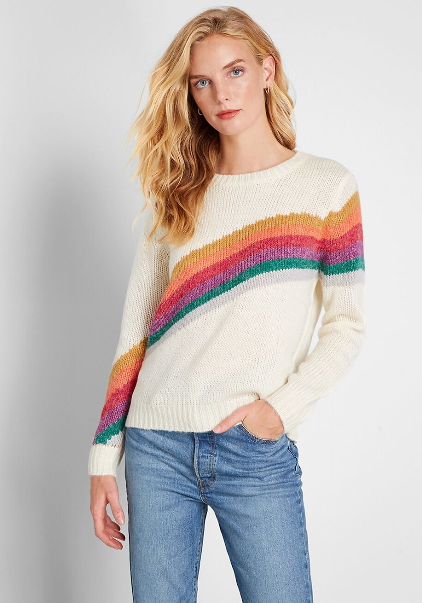 Rainbow Request Pullover Sweater