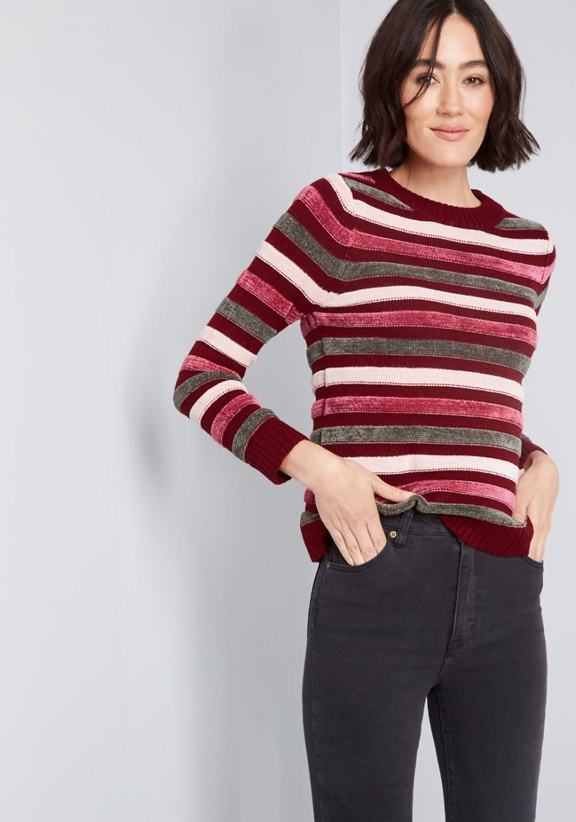 Duly Noticed Chenille Sweater