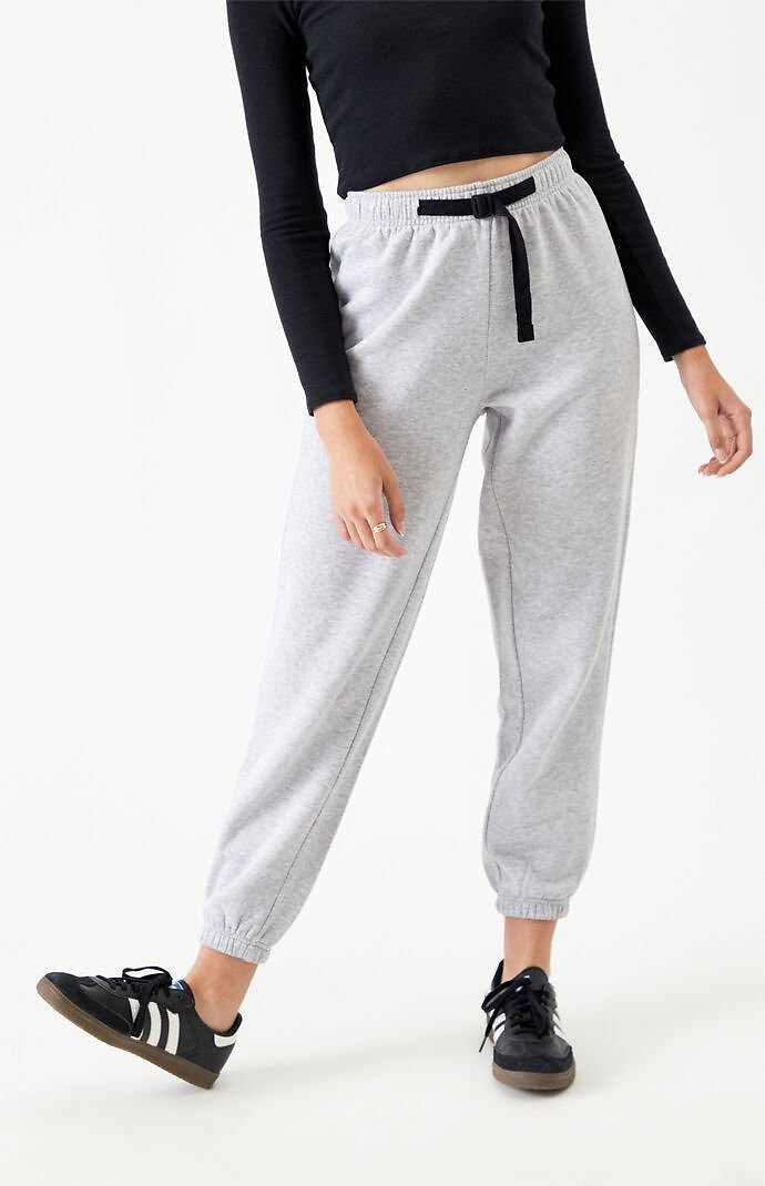 PacSun Buckle Belted Sweatpants
