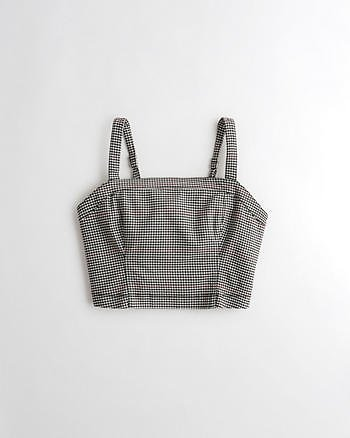 Girls Square-Neck Crop Top | Girls Clearance | HollisterCo.com
