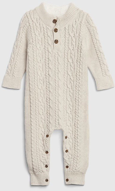 Baby Knit Long Sleeve One-Piece
