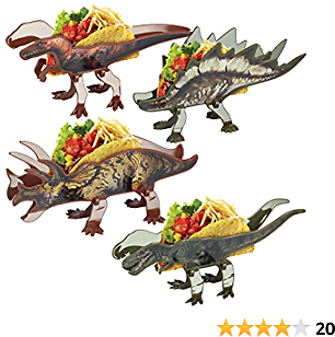 EXTRA 50% OFF Dinosaur Taco Holders, Set of 4 Dino Taco Stands Feeds The Whole Family and Fold Flat for Compact Storage