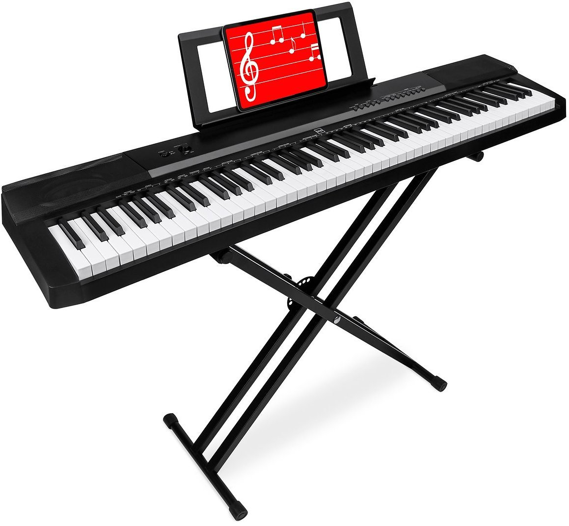 88-Key Digital Piano Set w/ Semi-Weighted Keys, Stand, Sustain Pedal