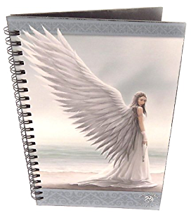 Spiral Notebook 'Fairy Dreams' White Lady.