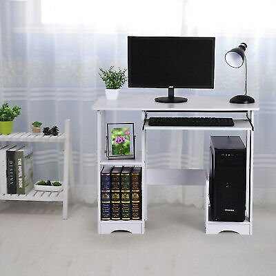 Wood Computer Desk PC Laptop Table Workstation Study Home Office Furniture US