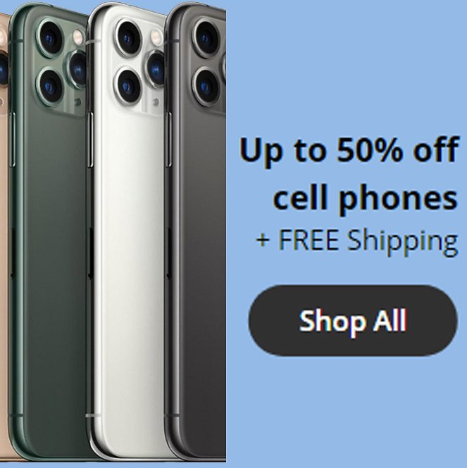 Up to 50% Off On Cell Phones + Free Shipping
