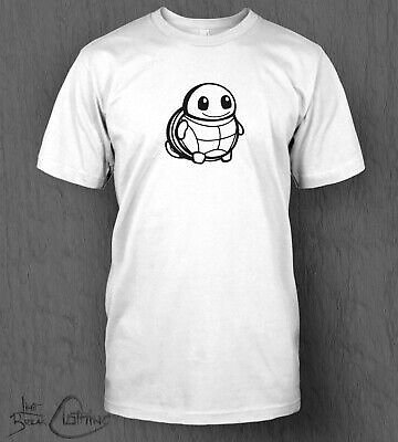 Pokemon T-Shirt Chibi Chubby Squirtle Top MEN'S Nintendo Switch Lite Cute Tee