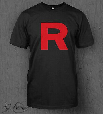 Pokemon T-Shirt Team Rocket R Logo MEN'S Nintendo Switch Pokémon Sword Shield