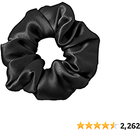 LilySilk Silk Black Scrunchies -Regular -Scrunchies For Hair - Large Silk Scrunchies For Women Soft Hair Care Christmas Gift