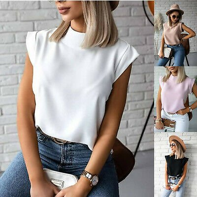 Womens Tee Tops Blouse Neck Pullovers