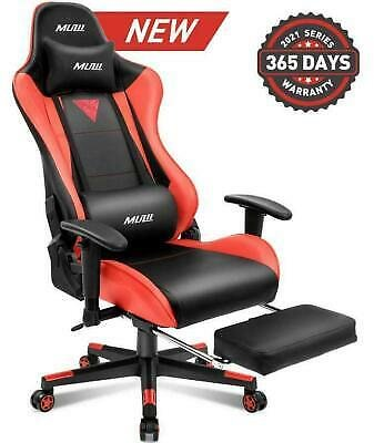 Gaming Chairs PC High-back Swivel Footrest Racing Style Office Red Furniture