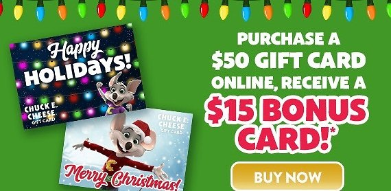$15 Bonus Card With $50 Gift Card Purchase