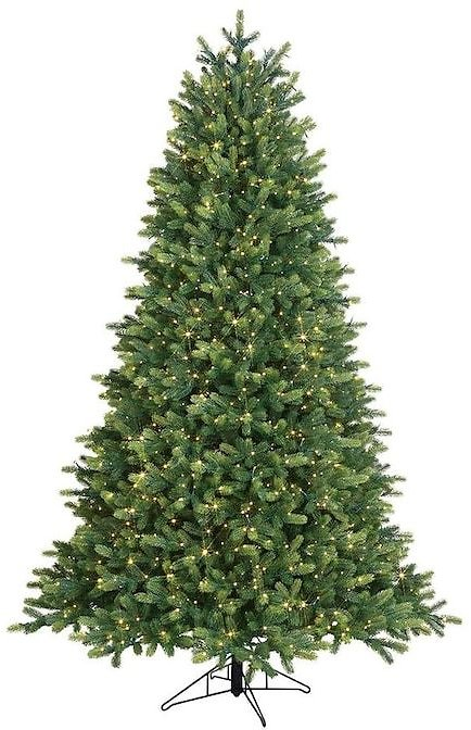 7.5ft Traditional Artificial Christmas Tree with 1500 Multi-Function Color Changing LED Lights