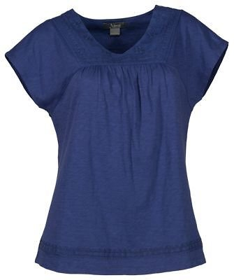 Natural Reflections Embroidered V-Neck Short-Sleeve Top for Ladies | Bass Pro Shops