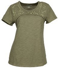 Natural Reflections Floral Embroidered Yoke Short-Sleeve Top for Ladies | Bass Pro Shops
