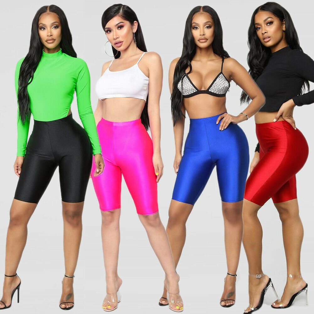 US $4.39 35% OFF|Women Cycling Shorts Dancing Gym Biker Slim Active Sports Solid Sexy Skinny 2019 New Summer|Shorts| - AliExpress