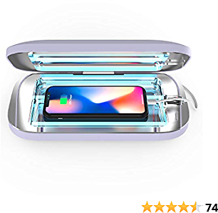 PhoneSoap Pro UV Smartphone Sanitizer & Universal Charger   Patented & Clinically Proven UV Light Disinfector   (Lavender)