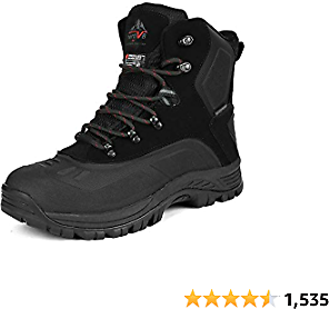 NORTIV 8 Men's Insulated Waterproof Construction Hiking Winter Snow Boots