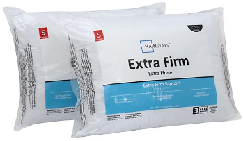 Mainstays 200TC Cotton Extra Firm Pillow Set of 2 in Multiple Sizes