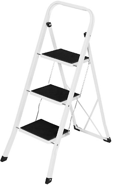 Best Choice Products Portable Folding 3-Step Heavy-Duty Steel Ladder Stool w/ 330lb Capacity