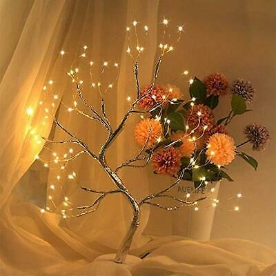 LED Blossom Light Bonsai Tree Table Lamp DIY Home Bedroom Decor Night Light USB