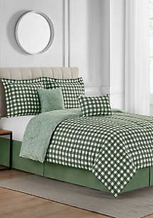 Modern. Southern. Home.™ Textured Gingham 6-Piece Bed-In-A-Bag Reversible Comforter Set