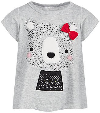 First Impressions Baby Girls Holiday Bear T-Shirt, Created for Macy's & Reviews - Shirts & Tops - Kids