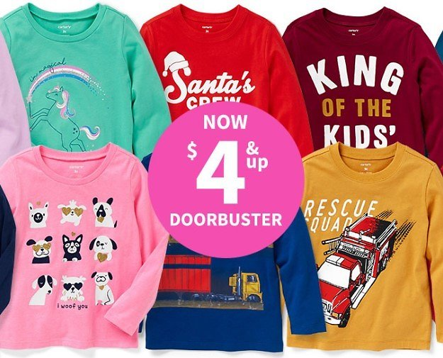 $4 & Up Tees Doorbusters | Carter's | Free Shipping