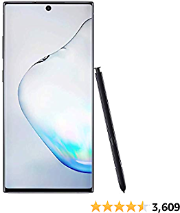 Samsung Galaxy Note 10+ Factory Unlocked Cell Phone with 512 GB (U.S. Warranty), Aura Black/ Note10+