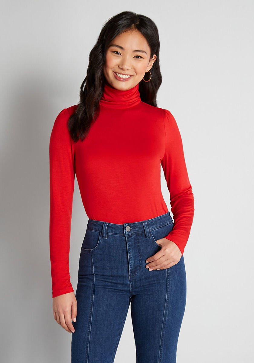 Classic and Cozy Turtleneck Top