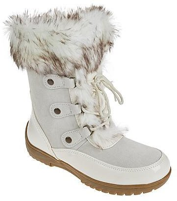 Sporto® Minor Waterproof Suede Mid-Calf Boot with Faux Fur Trim - 9576622 | HSN
