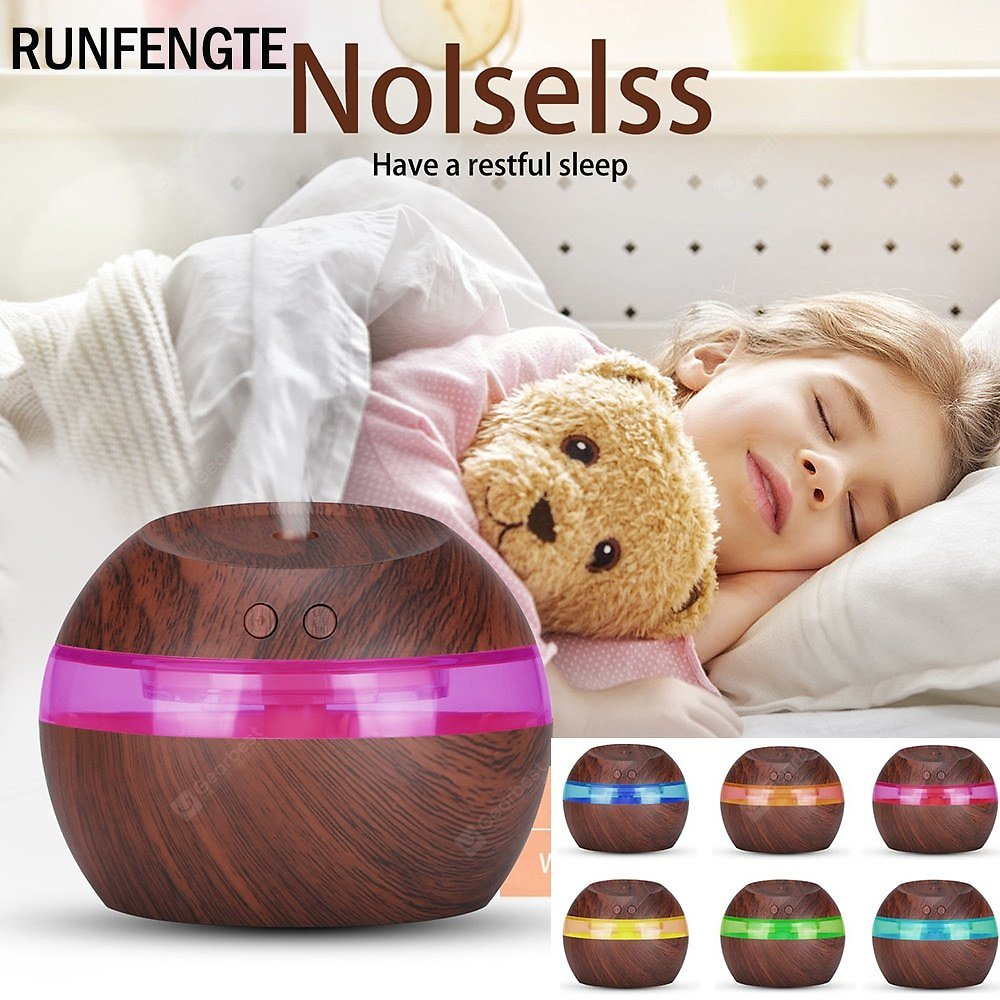 RUNFENGTE 300ml 7 LED Change Night Light Humidifier Ultrasonic Home Quiet Air Purifier Humidifier Atomizer Incense Burner Sale, Price & Reviews   Gearbest